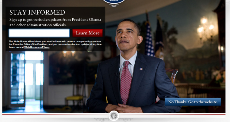 Landing Page White House