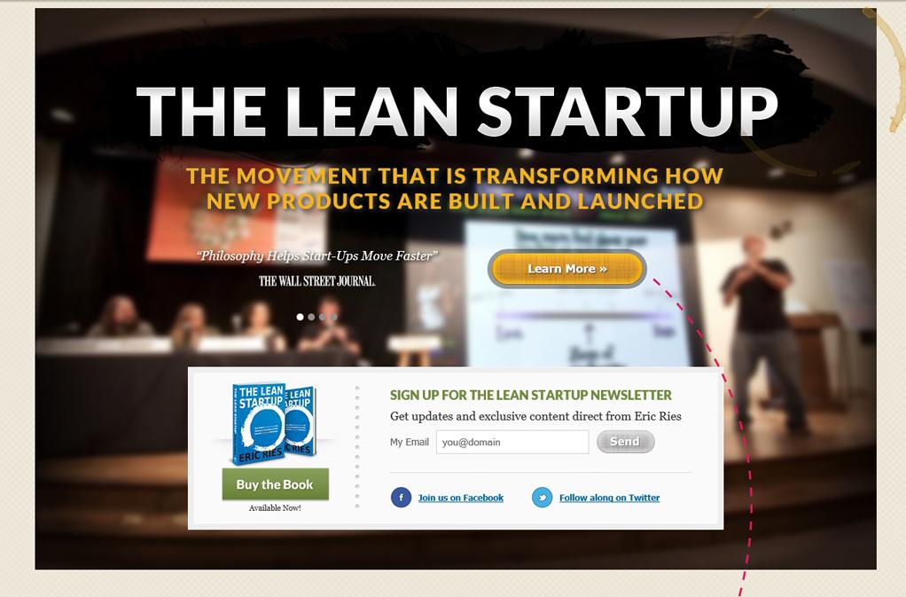 lean landing page