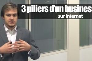 les 3 piliers d'un business en ligne